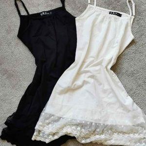 Lace tank slip dress